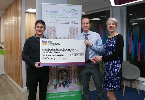 Bridge the Gap cheque handover 2019