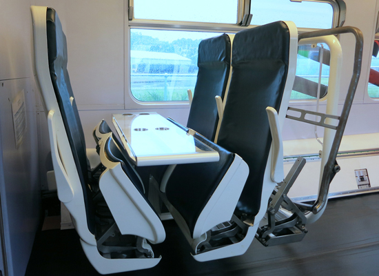 Adaptable Carriage allows unused train passenger seats to be folded and moved along the carriage.