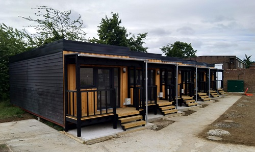 Allia modular housing for homeless people in Cambridge