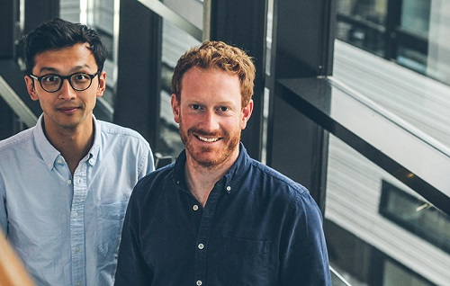 HexagonFab co-founders Ruizhi Wang and Christoph von Bieberstein