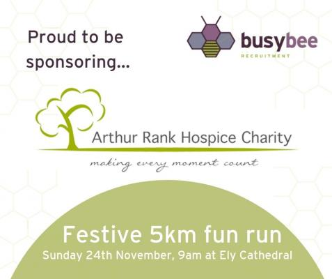 Arthur Rank Hospice Chariety fun run banner