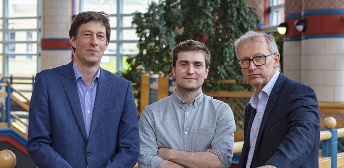 L-R: Simon Learmount, Thomas Roulet, Michael Kitson
