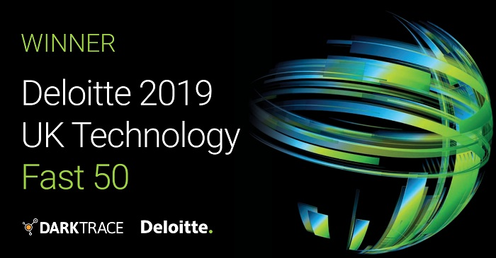 Darktrace winner in the Deloitte Technology UK Fast 50 awards_ banner