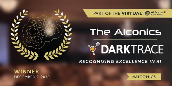 Darktrace wins in the 2020 AIconics Awards_banner