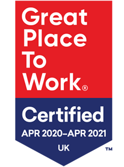 Great place to work 2020 certification graphic