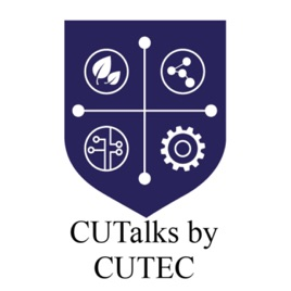 The podcast logo CUTalks by CUTEC