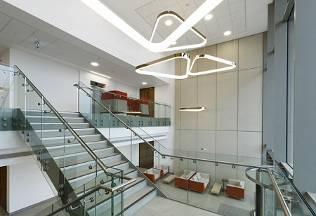 Interior of RxCelerate building at at the Babraham Research Campus