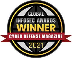 Cyber Defense InfoSec award badge