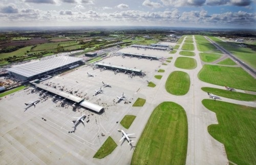 London Stansted Airport - aerial shot