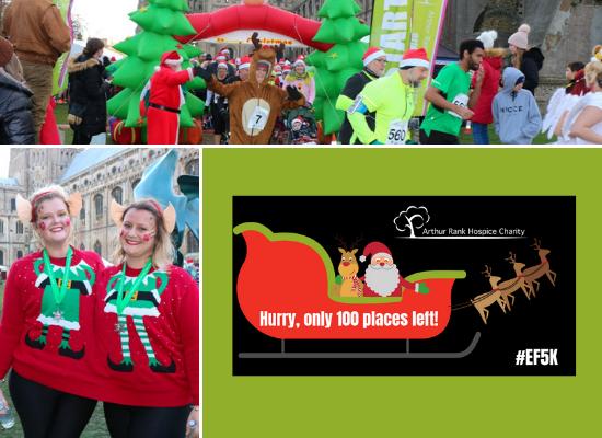 Ely festive 5K runner at Arthur Rank Hospice Charity event last year