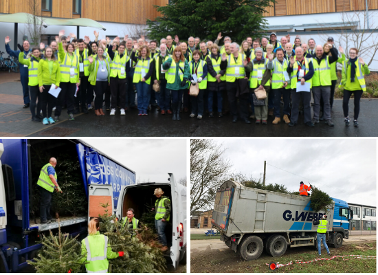 Arthur Rank Hospice needs artic lorries and tippers to support Christmas Tree recycling scheme!