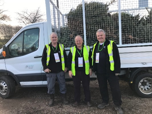 Photos of last year's volunteers on their 'treasure hunt for trees'.  Volunteers are essential to the success of Arthur Rank Hospice Charity's Christmas Tree recycling scheme, which takes place after the festive break on Thursday 7, Friday 8, Saturday 9 and Sunday 10 January.