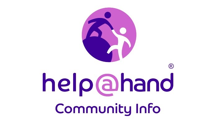 Help at Hand app logo: look for this distinctive purple logo when searching for 'Help at Hand community info' within the app store for your device.