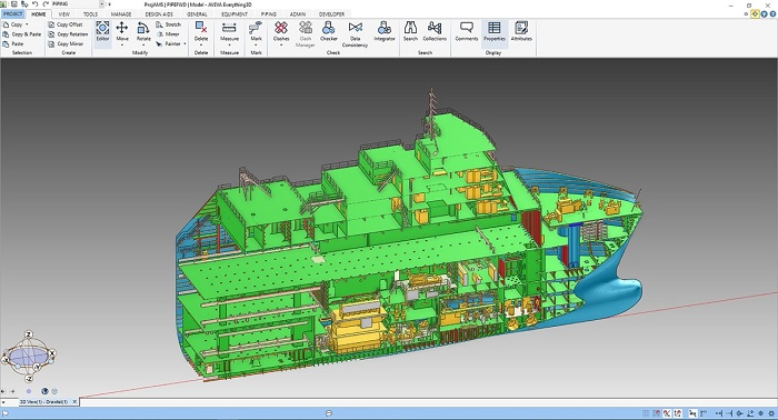 A multi-discipline outfitting design based on the real hull data