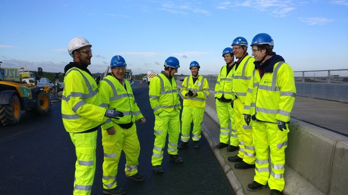 Cambridge Network Leaders Academy group visits the A14 site