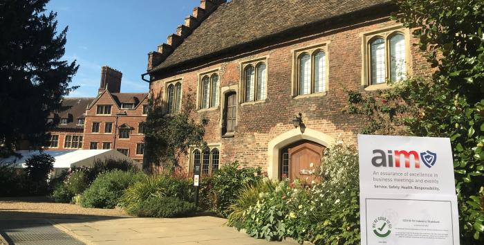 Trinity Hall Cambridge College receives two national COVID secure awards for health and hygiene