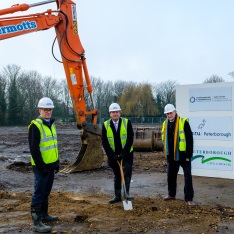 Groundbreaking ceremony at ARU Peterborough