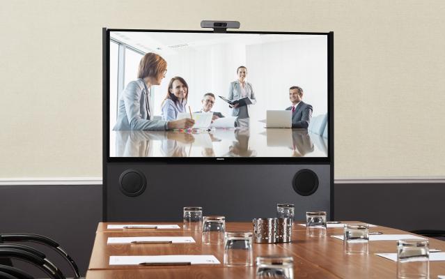 AV technology in an empty board room