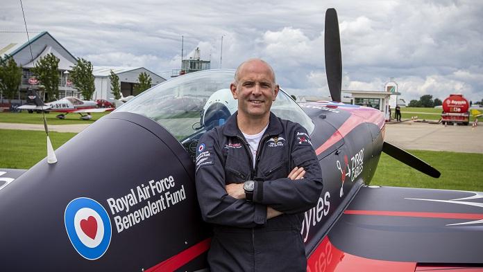 Blades Aerobatic Team Pilot and plane supporting  RAF Benevolent Fund