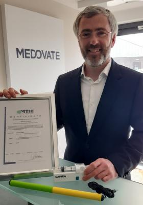 Cambridge based Medovate have received European CE regulatory approval for their revolutionary SAFIRA regional anaesthesia device