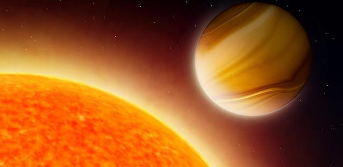 Artist's impression of gas giant exoplanet  Credit Amanda Smith
