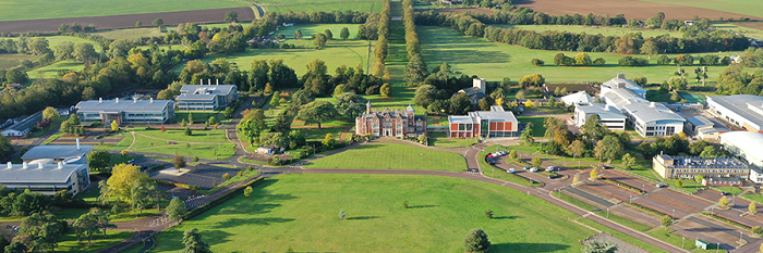 An aerial view of the Babraham Research Campus