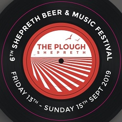 The Plough at Shepreth Beer & Music festival beermat banner