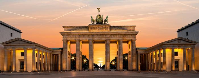 The Brandenberg Gate in Berlin