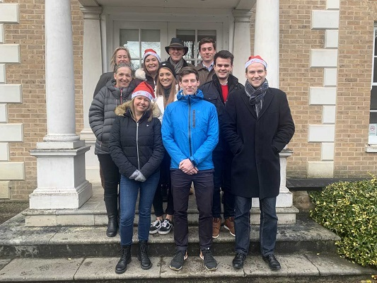 Some of Birketts staff who walked home for Christmas