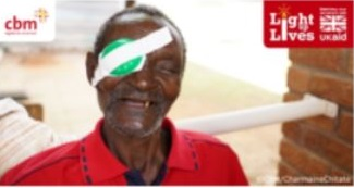 Paul from Zimbabwe after cataract surgery that restored his sight and independence. Thanks to the generous response to the Light up Lives appeal, thousands more people like Paul will receive sight-saving treatments. © CBM/Charmaine Chitate