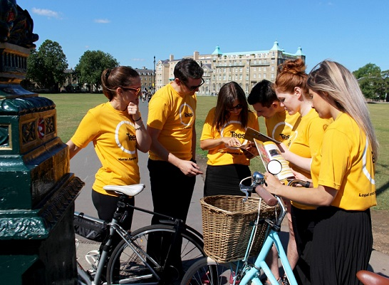 Tees team looks at first clue_ CamcycleQuest launch
