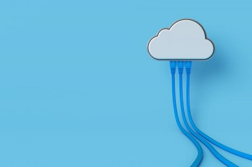 cloud with wires attached_ cloud computing illustration