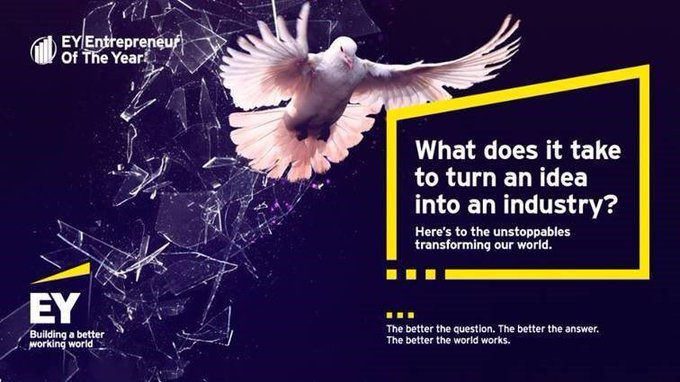 EY Entrepreneur of the Year logo with a dove