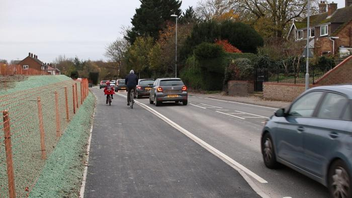 Ditton Lane Cross City Cycling project is complete