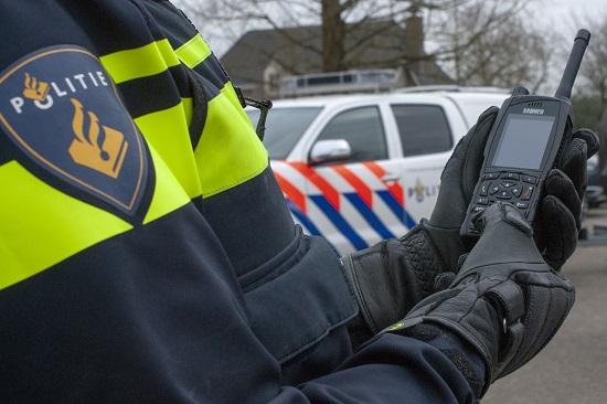 Dutch Police Officer with a Sepura SC20 TETRA Radio