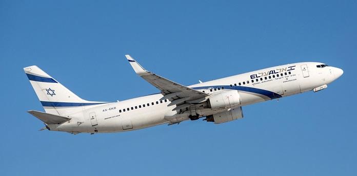 EL AL aeroplane in flight