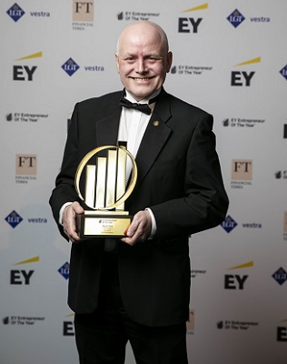 Martin Frost, CEO of Cambridge-based CMR Surgical, was named 'Disruptor' winner at the EY Entrepreneur Of The Year™ 2019 UK awards