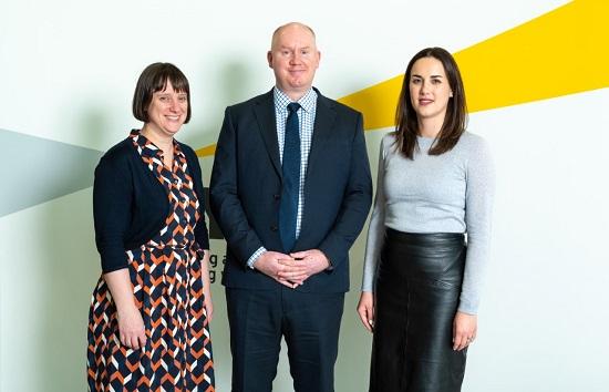 (l-r) Ruth Logan, partner, Stuart Wilkinson, new office managing partner and Lauren Houghton, associate partner, all of EY.