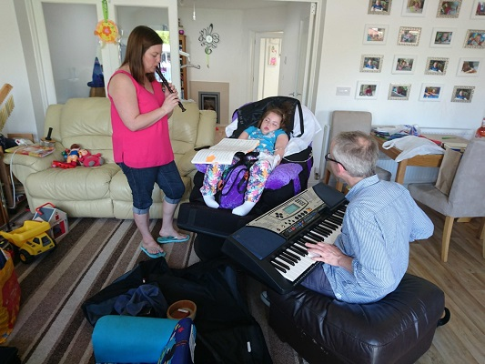 Effie particularly enjoyed music therapy