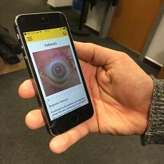 Eye app on a mobile phone
