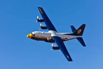 Blue Angels' iconic Fat Albert, the C-130 support aircraft to the US Navy's air display team