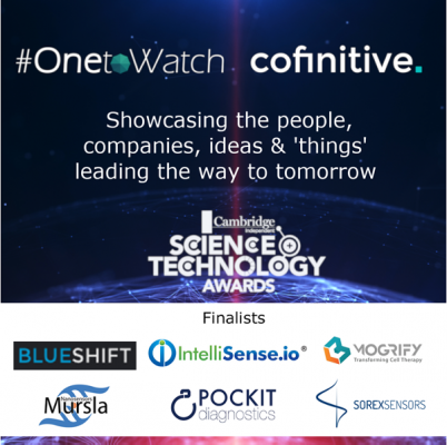 #OnetoWatch finalists are in good company at the Cambridge Independent Science & Technology Awards 2019