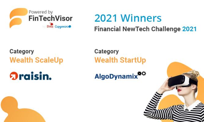 Top prize for AlgoDynamix at Capgemini and Efma Financial NewTech Challenge 2021