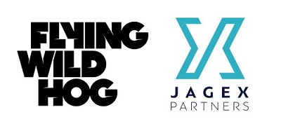 Flying Wild Hog  and  Jagex Partners  logos