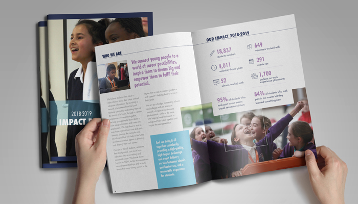 Form the Future's Impact Report, designed by D&A Creative