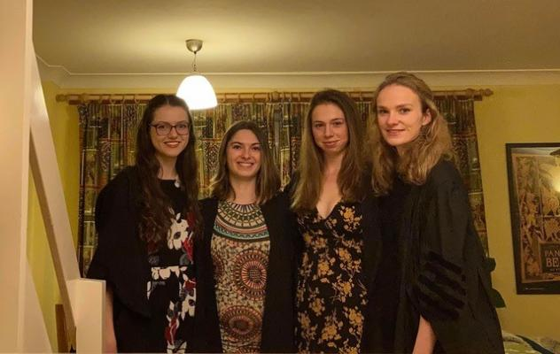 Trinity Hall students enjoy 'Formal Hall at Home'