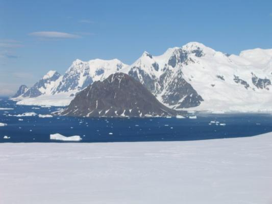 Francis Peak near Rothera Research Station is named after BAS Director Prof Dame Jane Francis © British Antarctic Survey