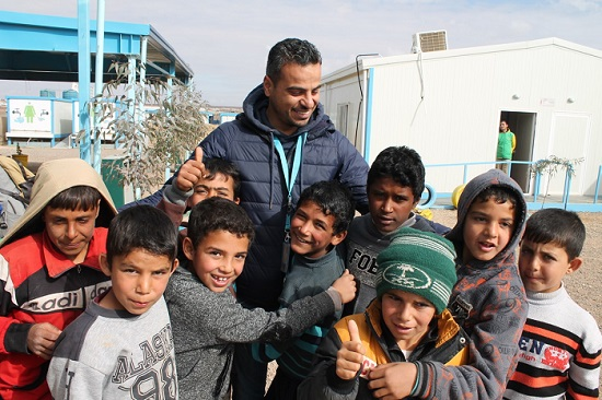 Ghaith Jalabneh with children