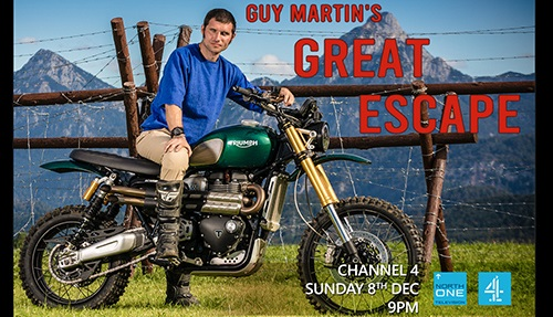 Banner for  'Guy Martin's Great Escape' on Channel 4, this Sunday (8 December), at 9pm.