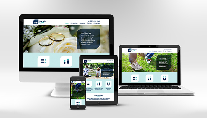 D&A Creative designs branding and website for Haigh Law